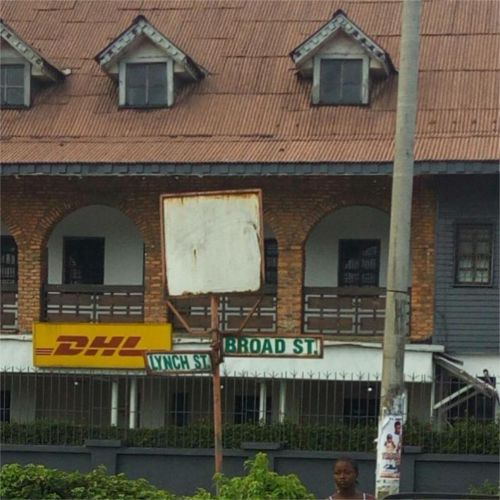 The building in Liberia where Chef Thal mother's restaurant, Thalgus, was located.